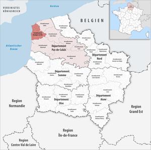 Arrondissement of Boulogne-sur-Mer - Image: Locator map of Arrondissement Boulogne sur Mer