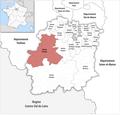 Locator map of Kanton Dourdan 2019.png