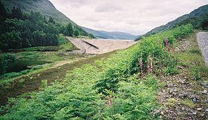 Lochaber hydroelectric scheme - Loch Treig dam