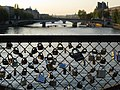 Locks on the fence over the Seine River in Paris, France.jpg