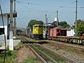 Locomotiva de comboio parado sentido Boa Vista no pátio da Estação Ferroviária de Itu - Variante Boa Vista-Guaianã km 202. À direita, comboio de manutenção de via. - panoramio.jpg