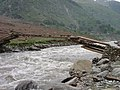 Log bridge on Kunar river1.jpg