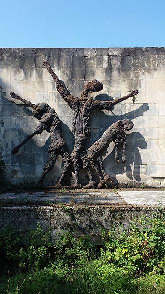 Kruščica concentration camp - The monument built in Kruščica