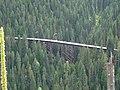 Looking down to a trestle, Hiawatha Trail switchback (10490442276).jpg