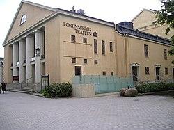Entréen til Lorensbergsteatern.