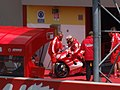 Loris Capirossi at the Ducati Marlboro Team garage 2006 Mugello 3.jpg