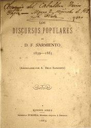 Domingo Faustino Sarmiento: Los discursos populares de D. F. Sarmiento
