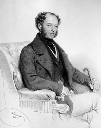 Louis, Duke of Blacas - Louis Charles de Blacas d´Áulps, Lithograph by Josef Kriehuber, 1851