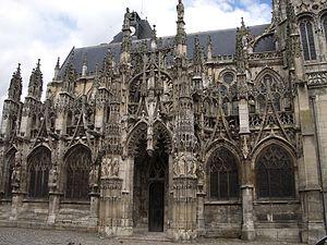 Church of Notre-Dame de Louviers - Notre-Dame de Louviers, south façade and porch