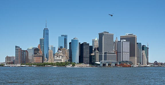 Lower Manhattan viewed from Governors Island