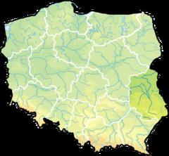 Województwo lubelskie na mapie Polski