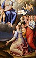 Luca longhi, madonna col bambino con s. caterina, s. orsola e le vergini, 1555, 04.jpg