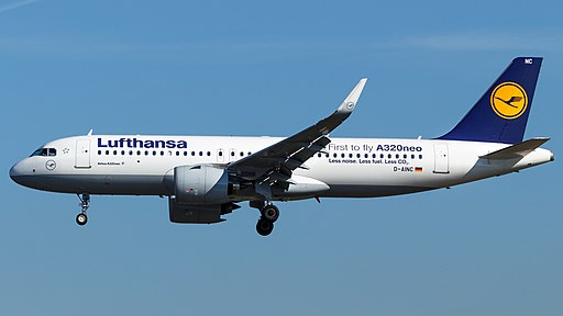 Lufthansa Airbus A320neo (D-AINC) at Frankfurt Airport