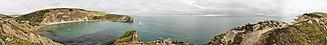 Lulworth Cove - Image: Lulworth Cove, UK 360° Panorama