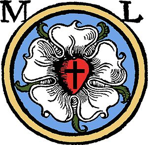 Ecclesiastical heraldry - personal seal of Martin Luther from 1530, now a symbol of Lutheranism