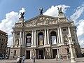 Lwów , Polish , now Lviv, Ukrainian, Львів, Russian, Львов - Teatr Wielki Opery i Baletu - zbudowany w latach 1897 - 1900 wg projektu Zygmunta Gorgolewskiego- Lviv Theatre of Opera and Ballet- Monument of Polish - panoramio.jpg