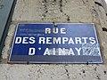 Lyon 2e - Rue des Remparts d'Ainay - Plaque (janv 2019).jpg