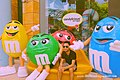 M&M's World characters Yellow, Green, Red and Blue at Candylicious, Resorts World Sentosa, Singapore - 20140213.jpg