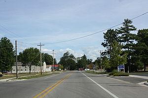 Empire, Michigan - Looking north in Empire