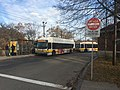 MBTA route 52 and 504 buses at Watertown Yard, November 2019.jpg