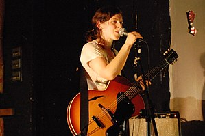 Mirah - Mirah with her Gibson guitar in 2009