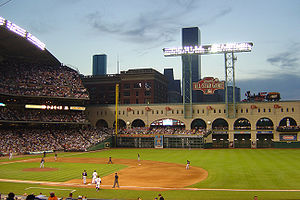 Interior View of Minute Maid Park in Houston, ...