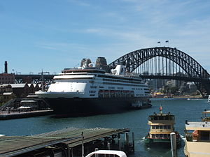 MS Statendam docked at Circular Quay, Sydney