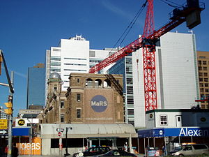 MaRS Discovery District - Construction of MaRS Phase II in August 2008.