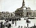 Maastricht, Markt, onthulling standbeeld J P Minckelers, 1904 (1).jpg