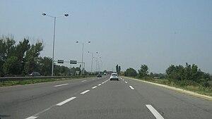 Transport in the Republic of Macedonia - A-3 entering Skopje