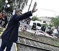 Macri inaugurando la electrificación del Roca 02.jpg