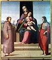 Maestro di serumido, sant'anna, la madonna col bambino e i ss. francesco e sebastiano, 01.jpg