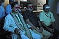 Mahesh Sharma With Prabhas Kumar Singh And Anil Shrikrishna Manekar Watching 3D Video - NCSM - Kolkata 2017-07-11 3546.JPG