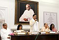 "Mahesh Sharma addressing at the release of a book entitled ""Historical Background to the Imposition of Salt Tax under the British Rule in India (1757-1947) and Mahatma Gandhi's Salt Satyagraha (1930-31) against the British.jpg"