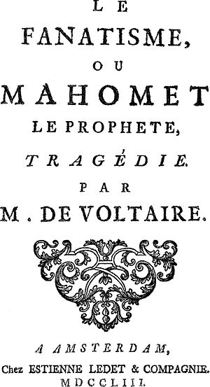 Mahomet (play) - Frontispiece of the 1753 edition