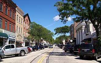 Northport, New York - Main Street in Northport just east of Woodbine and Bayview Avenues