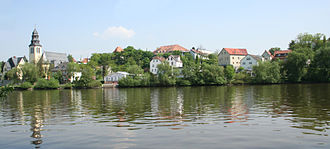 Kelsterbach - Kelsterbach from the Main riverside at Sindlingen