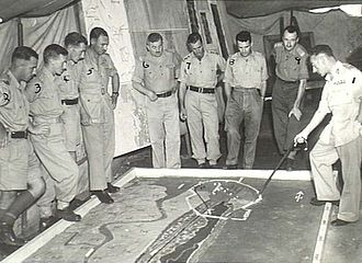 Ted Serong - Officers of the 6th Division in 1944, including Serong, then a major, third from the right.