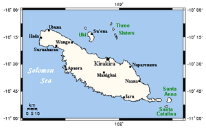 Location on Makira Island