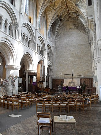 Malmesbury Abbey - The remaining part of the nave, currently used as the parish church