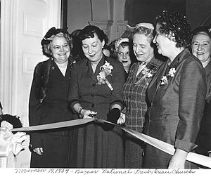 National Presbyterian Church - First Lady Mamie Eisenhower opening Women's Bazaar at National Presbyterian Church
