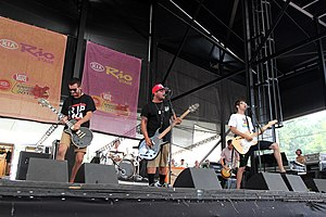 Man Overboard (band) - Man Overboard performing on Warped Tour in 2012.