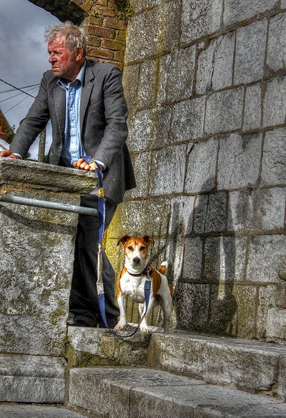 File:Man and dog (8123088698).jpg