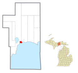 Location within Schoolcraft County
