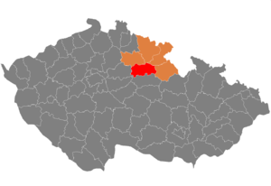 District location in the مرکزی بوهم اوستانی within the Czech Republic