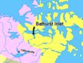 Map indicating Bathurst Inlet, Nunavut, Canada.png