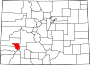 Map of Colorado highlighting Ouray County.svg