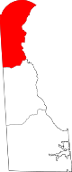 Map of Delaware highlighting New Castle County.svg