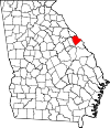 Map of Georgia highlighting Columbia County.svg