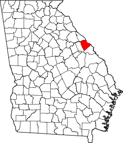 Harta e Columbia County në Georgia